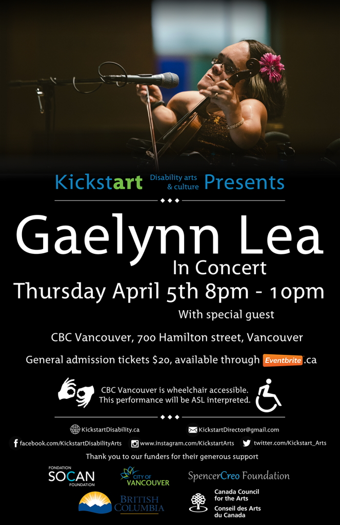 Gaelynn Lea: In Concert Thusday April 5th